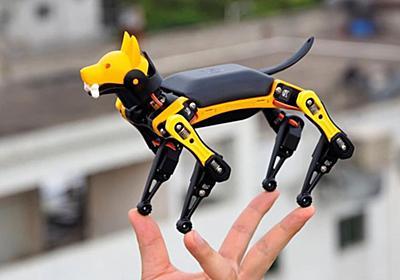 あの犬型ロボット「Spot」が手のひらサイズに!動きもそっくりに再現した四足歩行ロボットが販売決定 : カラパイア
