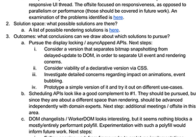 Async DOM working session summary & outcomes - Google ドキュメント