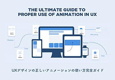ユーザーを魅了する!UXデザインの正しいアニメーション完全マスターガイド 2018年版 - PhotoshopVIP
