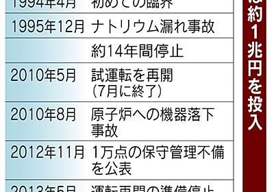 もんじゅ「増殖炉」白紙 政府、エネ計画から削除  :日本経済新聞