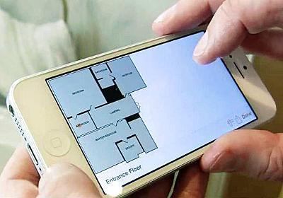 スマホで壁をタッチするだけで部屋の見取り図を作成できる「RoomScan」 - GIGAZINE