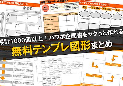 累計1000個以上!パワポ企画書をサクっと作れる無料テンプレ図形まとめ | Find Job! Startup