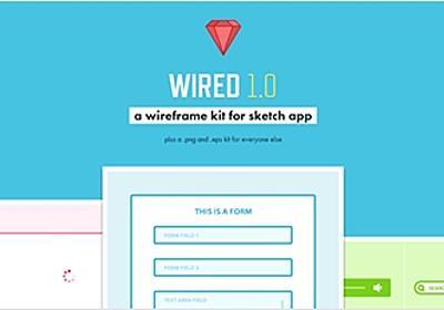 PNGやEPS形式のワイヤーフレーム作成用キット・「WIRED」   かちびと.net