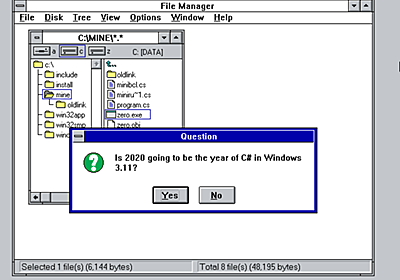 .NET everywhere apparently also means Windows 3.11 and DOS - Scott Hanselman