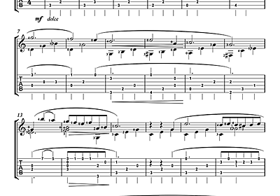 ギター 楽譜 夜想曲 第2番 変ホ長調 Op.9-2 (ショパン)