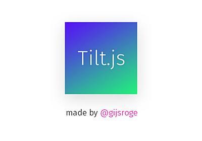 Tilt.js - A tiny parallax tilt effect for jQuery
