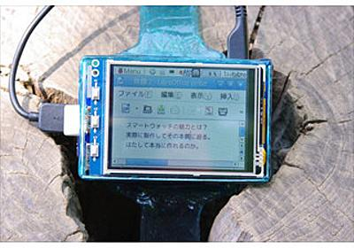 Apple Watchに対抗して「Raspberry Watch」を作ってみた(後編) (1) ケーブルが目立つのは大人の事情 | マイナビニュース