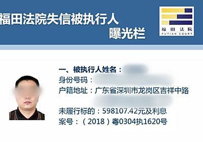 50 Debtors' Personal Details Posted Online in Shenzhen – That's Shenzhen