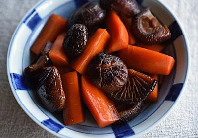 干し椎茸とにんじんの煮物のレシピ/作り方:白ごはん.com