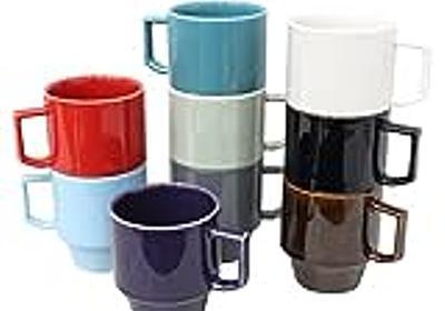 重なるマグカップ、「HASAMI(ハサミ) ブロックマグ」。色味が良い感じです。 - もんさん見せる
