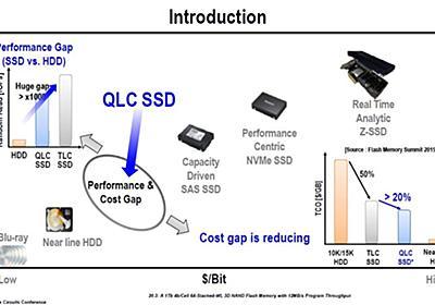 【福田昭のセミコン業界最前線】QLC SSDがコスト低減を武器にニアライン/クライアントHDDを侵食  - PC Watch