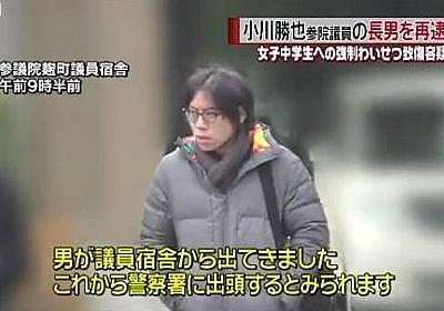 【怖すぎ】小川勝也参院議員の長男、女子小学生の胸を掴んで5度目の逮捕 : オレ的ゲーム速報@刃