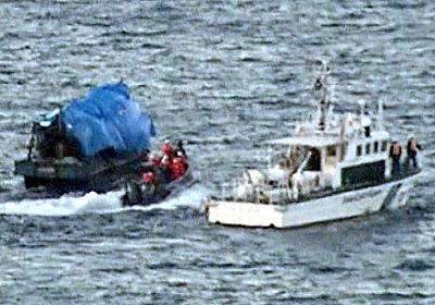 木造船、突然のエンジン起動 海保が1時間後に確保:朝日新聞デジタル