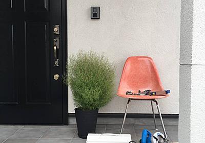 <庭プロジェクト>小屋工房製作①小屋準備。遣り方練習で大きさイメージ - My Midcentury Scandinavian home 〜北欧ミッドセンチュリーの家〜