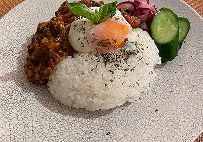 バジルキーマカレー - お玉さんのレシピ