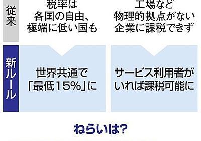 「底辺への競争」やめる 国際課税変更、日本の税収も増える見込み:朝日新聞デジタル
