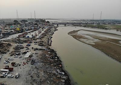 ガンジス川に網設置、漂着遺体対策 インド 写真3枚 国際ニュース:AFPBB News