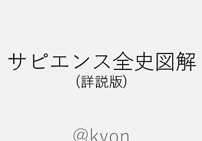 サピエンス全史図解(詳説版)|きょん|note