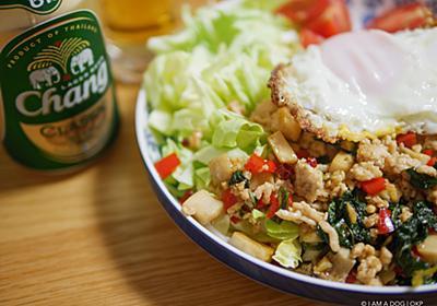 自宅ガパオライス2020完成版レシピは鶏ひき肉・エリンギ・ざく切りキャベツでワンプレート - I AM A DOG