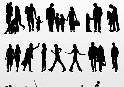 無料で使えるハイクオリティなベクター形式の人物シルエット集「Vector People Collection」 - GIGAZINE