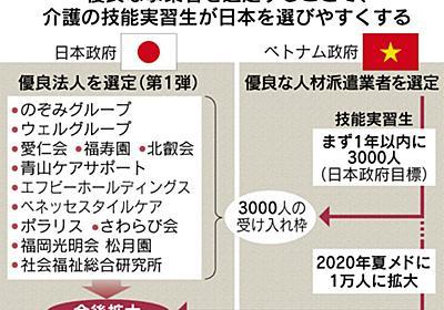 介護人材1万人受け入れ ベトナムと合意 政府20年目標、インドネシアにも打診 :日本経済新聞