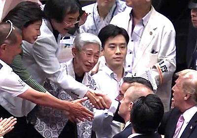 """国際政治チャンネル on Twitter: """"NHKアナ「おーっと、一般の方と握手しています」 https://t.co/ErAS3NWtKp"""""""