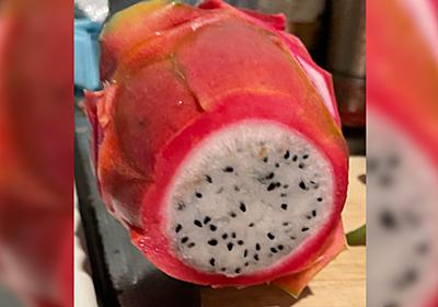ドラゴンフルーツの皮を茹でてワサビ醤油で食べるとめっちゃマグロになるらしい「マジで!?」→やってみた - Togetter