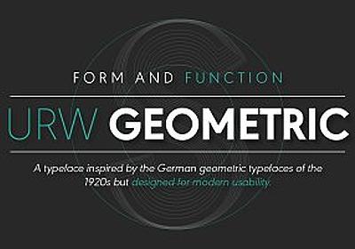 URW Geometric Regular ~ Sans Serif Fonts ~ Creative Market