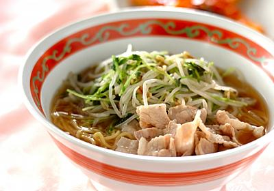 麺つゆで簡単ラーメン【E・レシピ】料理のプロが作る簡単レシピ/2017.11.20公開のレシピです。