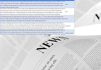 Reuters newswire:ロイターのニュース記事のトピック分類データセット:AI・機械学習のデータセット辞典 - @IT