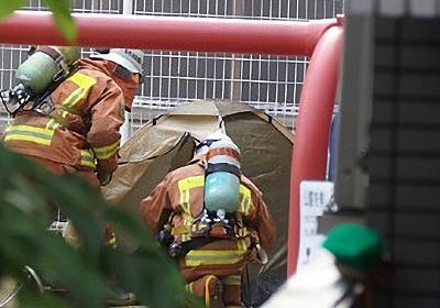 広島市中区大手町5丁目の大手町第三公園で女性が硫化水素自殺 仮設テントを張り「硫化水素発生中」の張り紙