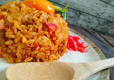 炊飯器で作るパラパラキムチ炒飯のレシピ - 料理研究家じゅなの料理ブログ