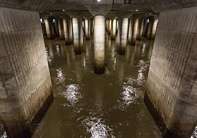 台風19号の翌日 稼働中の首都圏外郭放水路はこんなことになっていた「すごい」「水が入ってるとこ初めて見た」 - Togetter