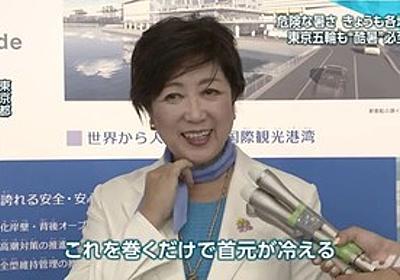 痛いニュース(ノ∀`) : 東京五輪の猛暑危ぶむ声に小池都知事「濡れタオルを首に巻くだけで首元が冷える。このことを知ってもらい活用して欲しい」 - ライブドアブログ