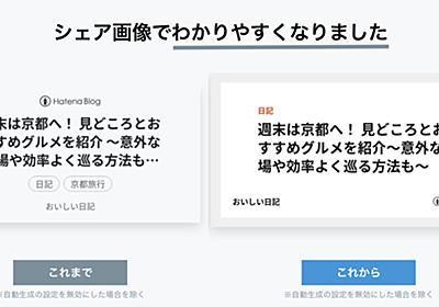 アイキャッチ画像がない記事をSNSでシェアした際に自動生成する画像をよりわかりやすくしました - はてなブログ開発ブログ