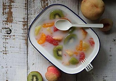 フルーツたっぷりカルピス寒天ゼリー&アイスの作り方 - 今日、なに食べよう?〜有機野菜の畑から~