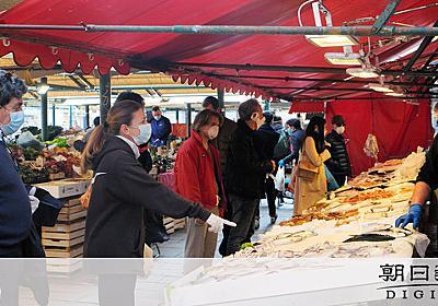 「ピーク達した」イタリアに緩み? 客でごった返す市場 [新型肺炎・コロナウイルス]:朝日新聞デジタル