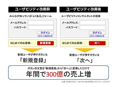 年間300億。Webユーザビリティ3つの間違い・落とし穴