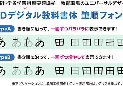 モリサワ、「UDデジタル教科書体 筆順フォント」を「MORISAWA BIZ+」に追加 - 窓の杜