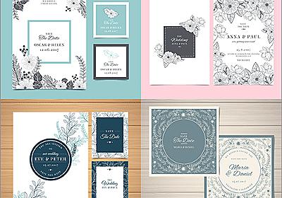 素敵なデザインがいっぱい!結婚式やパーティの招待状に使える無料のテンプレート素材   コリス