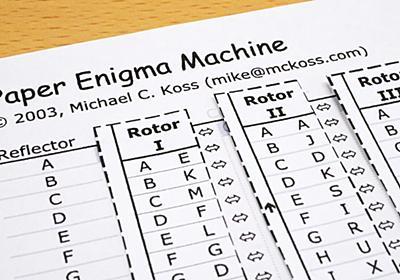 たった1枚の紙でナチス・ドイツの傑作暗号機エニグマを再現できる「Paper Enigma Machine」を使ってみた - GIGAZINE