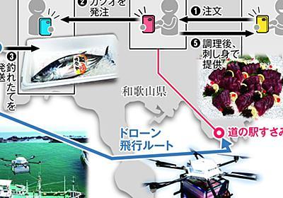 漁港から15分 「空飛ぶカツオ」ドローン直送(1/2ページ) - 産経ニュース
