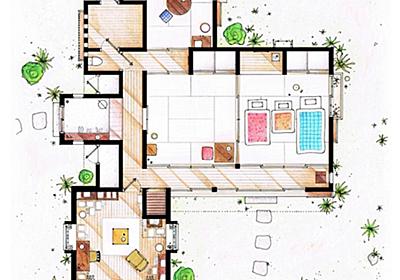 スケッチが細かい!となりのトトロや有名TVドラマなどに登場する家の間取り図 – TV FLOOR PLANS and MORE – | STYLE4 Design