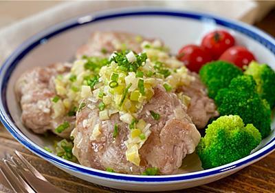 【レシピ】豚こまハンバーグのやみつきネギ塩ダレ - しにゃごはん blog