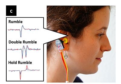 耳鳴りでスマホを操作するイヤフォン「EarRumble」 でも使える人は4割だけ:Innovative Tech - ITmedia NEWS
