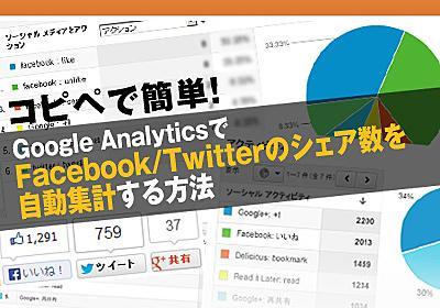 コピペで簡単!Google AnalyticsでFacebook/Twitterのシェア数を自動集計する方法   Find Job! Startup