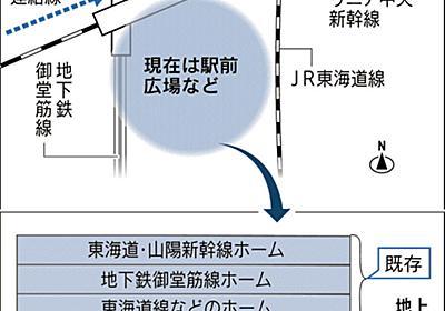 新大阪駅の大深度地下 北陸・山陽新幹線ホーム、コンサル協が構想  :日本経済新聞