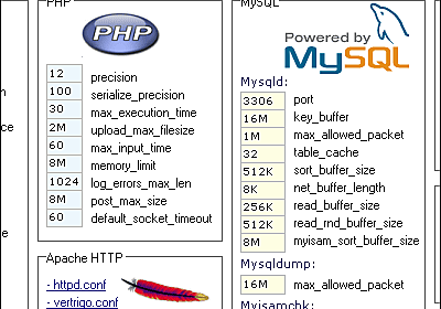 Apache/PHP/MySQLなどをWindowsに一発でインストールできる「VertrigoServ」 - GIGAZINE