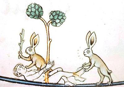 ウサギは悪の象徴だったのか?中世の写本に見られる殺人ウサギ : カラパイア